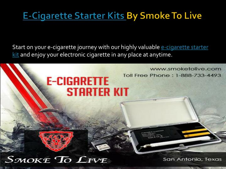 e cigarette starter kits by smoke to live n.