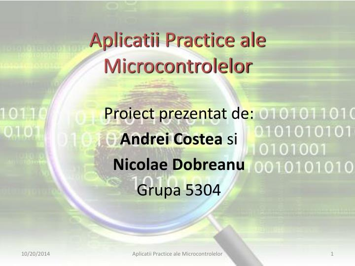 aplicatii practice ale microcontrolelor n.
