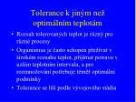 tolerance k jin m ne optim ln m teplot m