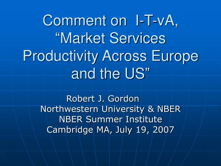 comment on i t va market services productivity across europe and the us n.