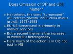 does omission of op and ghi matter