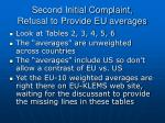 second initial complaint refusal to provide eu averages