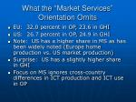 what the market services orientation omits