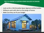 tips to choose a custom home builder in canada