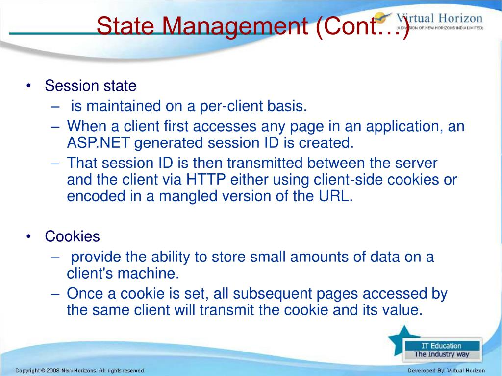 PPT - Session and State Management PowerPoint Presentation