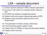 lsa sample document
