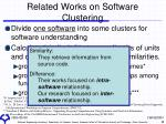 related works on software clustering
