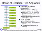 result of decision tree approach2
