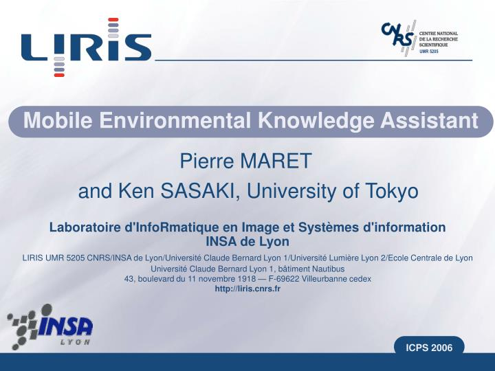 mobile environmental knowledge assistant n.