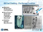 rr fuel cladding pre storage condition