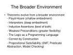 the broader environment