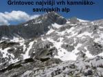 grintovec najvi ji vrh kamni ko savinjskih alp