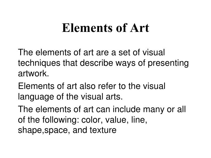 elements of art n.