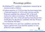 percentage politics