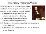 boyle s law pressure volume