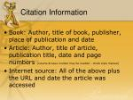 citation information