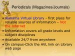 periodicals magazines journals
