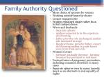 family authority questioned