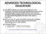 advanced technological education