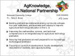 agknowledge a national partnership