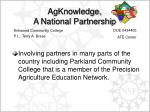 agknowledge a national partnership1