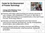 center for the advancement of process technology