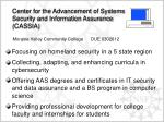 center for the advancement of systems security and information assurance cassia
