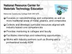 national resource center for materials technology education