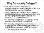 why community colleges