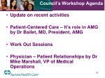 council s workshop agenda