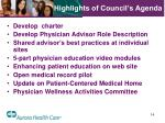 highlights of council s agenda