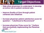 target objectives