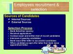 employees recruitment selection