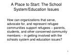 a place to start the school system education issues