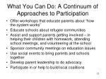 what you can do a continuum of approaches to participation