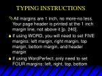 typing instructions