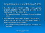 capitalization in quotations 5 26