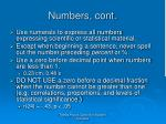numbers cont