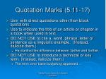 quotation marks 5 11 17