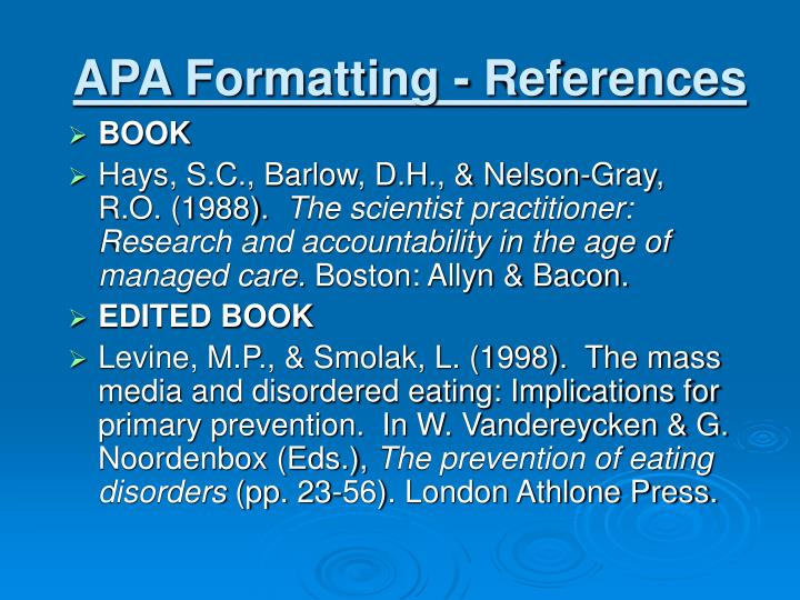 apa formatting references n.