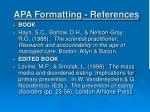 apa formatting references