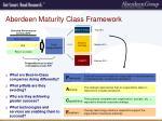 aberdeen maturity class framework1