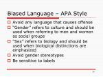 biased language apa style