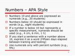 numbers apa style