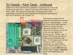 2u chassis riser cards continued