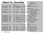 object vs assembly