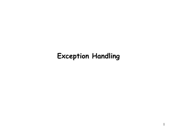 exception handling n.