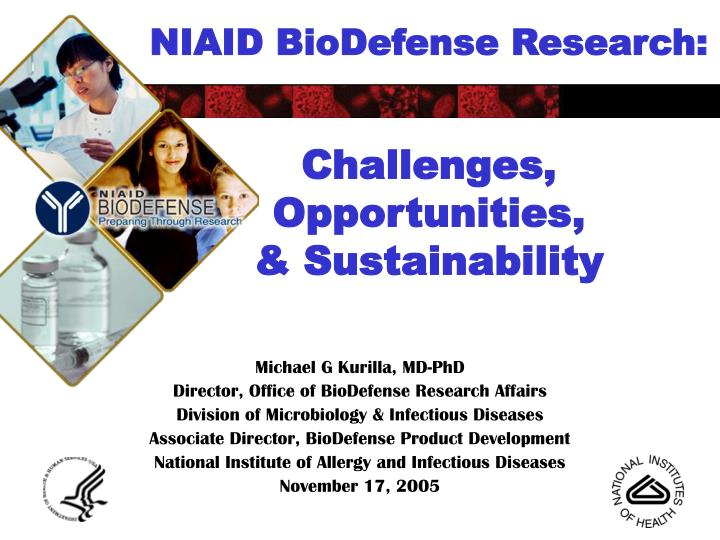 niaid biodefense research challenges opportunities sustainability n.