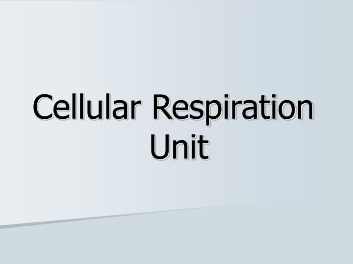 cellular respiration unit n.