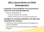 2011 lancet series on child development